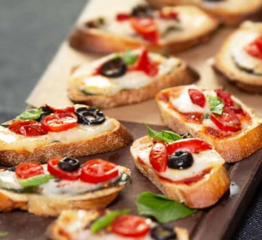 red and white pizza toastini
