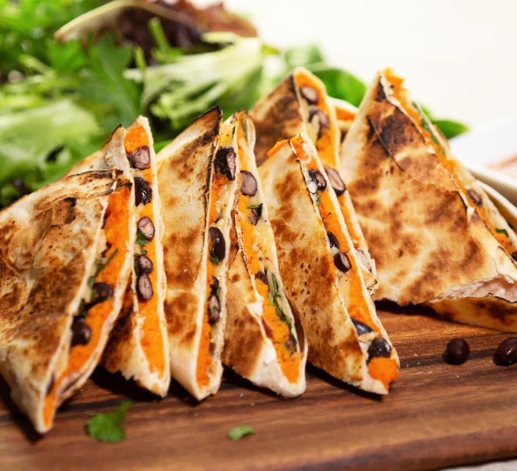 sweet potato black bean quesadilla
